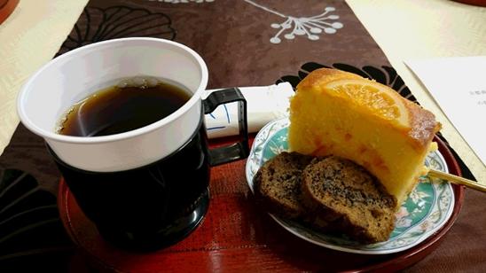 丸福珈琲さんのパウンドケーキ&珈琲ラスク